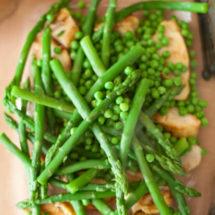 Asparagus and pea pie with chicken   insimoneskitchen.com