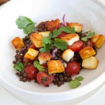 Puy lentil salad with halloumi | insimoneskitchen.com