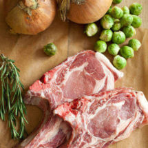 pork chops with brussels sprouts | insimoneskitchen.com