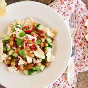 Chana chat salad   insimoneskitchen.com