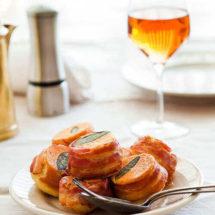 Corn and sage prosciutto cake | insimoneskitchen.com