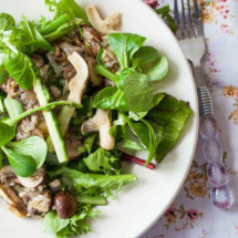 Asparagus salad with mushrooms | insimoneskitchen.com