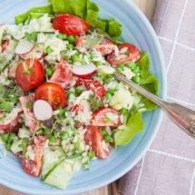 risoni salade met komkommer en tomaat