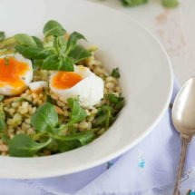 Pearl Barley with asparagus | insimoneskitchen.com