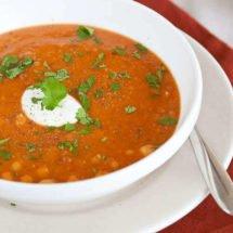 Red lentil soup | insimoneskitchen.com