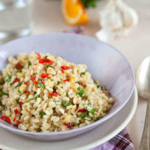 faro salad with orange hazelnut dressing | insimoneskitchen.com
