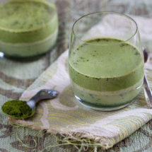 Pannacotta with matcha | insimoneskitchen.com