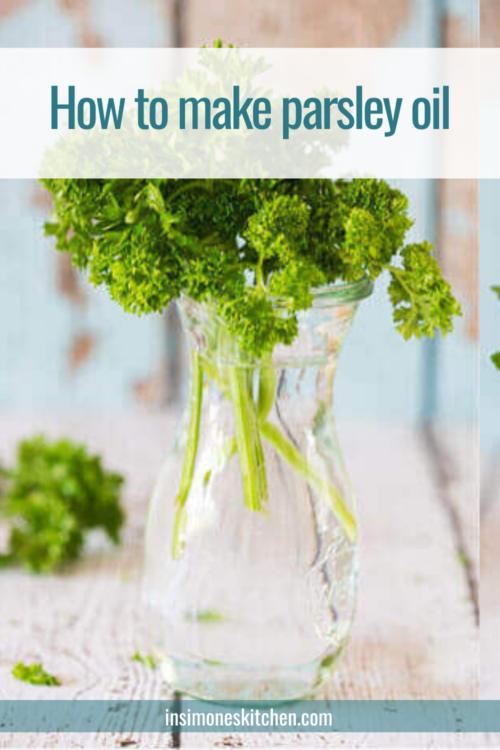 Making parsley oil