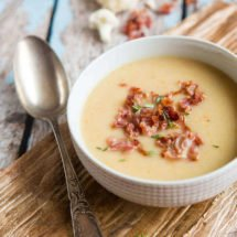 Cauliflower soup with bacon | insimoneskitchen.com