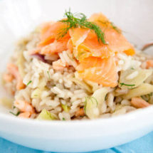 Fennel risotto with prawns and salmon | insimoneskitchen.com