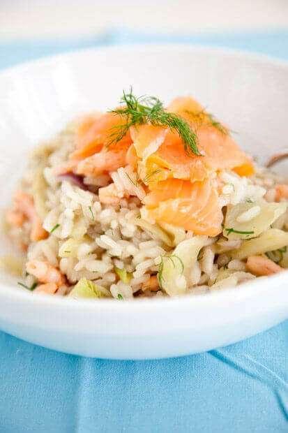 Venkel risotto met zalm en garnalen | insimonesk.wpengine.com