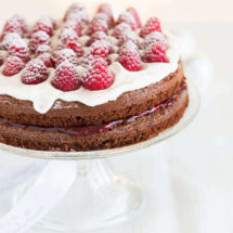 Double layered chocolate raspberry cake | insimoneskitchen.com