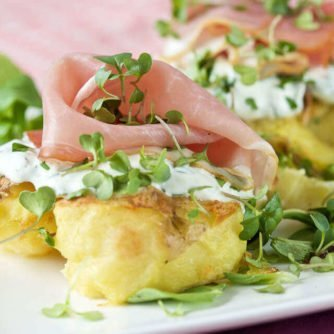 Potatoes with herbal cream and ham | insimoneskitchen.com