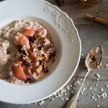 Warm oats with poached pears | insimoneskitchen.com