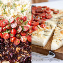Focaccia with three flavors | insimoneskitchen.com