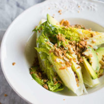Caesar salad with oat croutons | insimoneskitchen.com