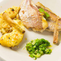 Red snapper with spring onion salad | insimoneskitchen.com