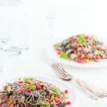 Salad with farro and Brussels sprouts | insimoneskitchen.com
