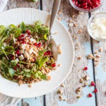 Farro salad with pomegranate and goat cheese | insimoneskitchen.com