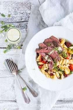 Pasta salad with steak | insimoneskitchen.com