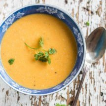 Sweet potato soup with chicken | insimoneskitchen.com