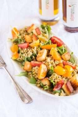 freekeh salad with halloumi | insimoneskitchen.com