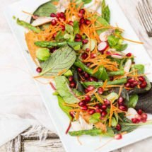 Pomegranate, asparagus and mackerel salad | insimoneskitchen.com
