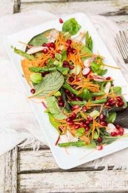 Pomegranate, asparagus and mackerel salad | insimoneskitchen.com