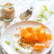 Carrotsalad with yogurt dressing and dukkah by Annabel Langbein | insimoneskitchen.com