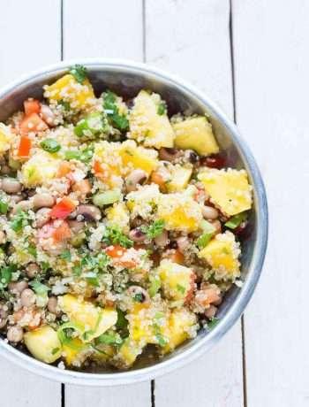 Quinoa salad with mango   insimoneskitchen.com
