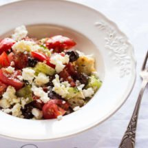 Greek salad by George Colombaris | insimoneskitchen.com