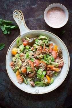 Farro salad with avocado and tomatoes | insimoneskitchen.com