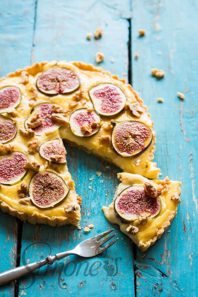 Custard fig tart | insimoneskitchen.com
