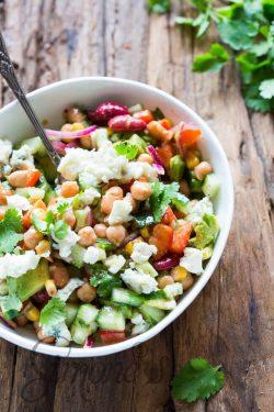 Mixed bean salad with roquefort | insimonesk.wpengine.com