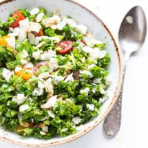 Kale salad with blue cheese and almonds | insimoneskitchen.com