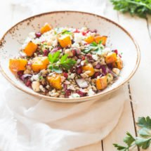 Spelt salad with pomegranate and pumpkin | insimoneskitchen.com