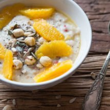 Coconut oatmeal with oranges | insimoneskitchen.com