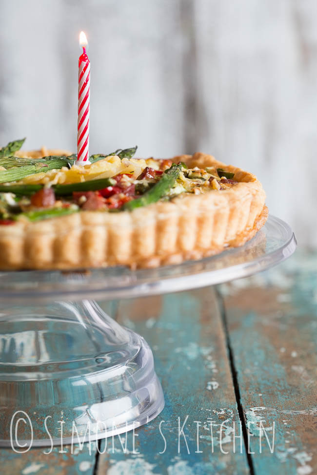 Savory pie with parsnips and green asparagus | insimoneskitchen.com