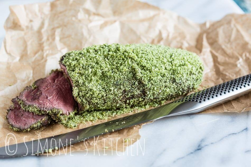 Roast beef with herby crust | insimoneskitchen.com