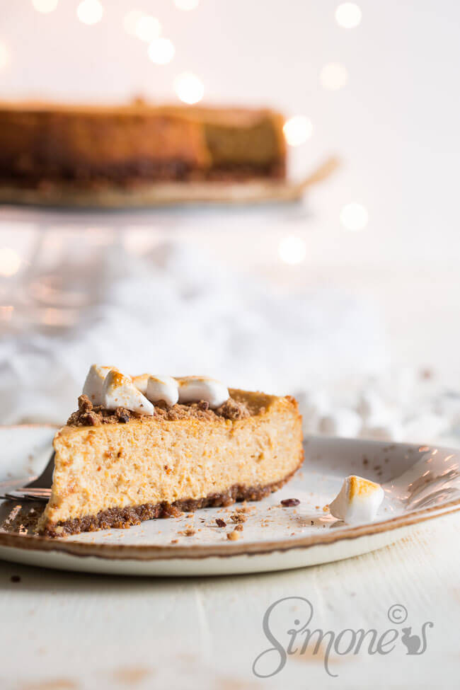 Pumpkin cheesecake | insimoneskitchen.com