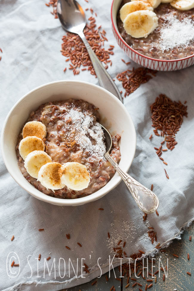 Slowcooker rice with coconut and banana   insimoneskitchen.com