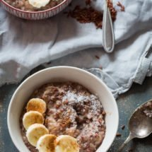 Coconut ricepudding with banana | insimoneskitchen.com