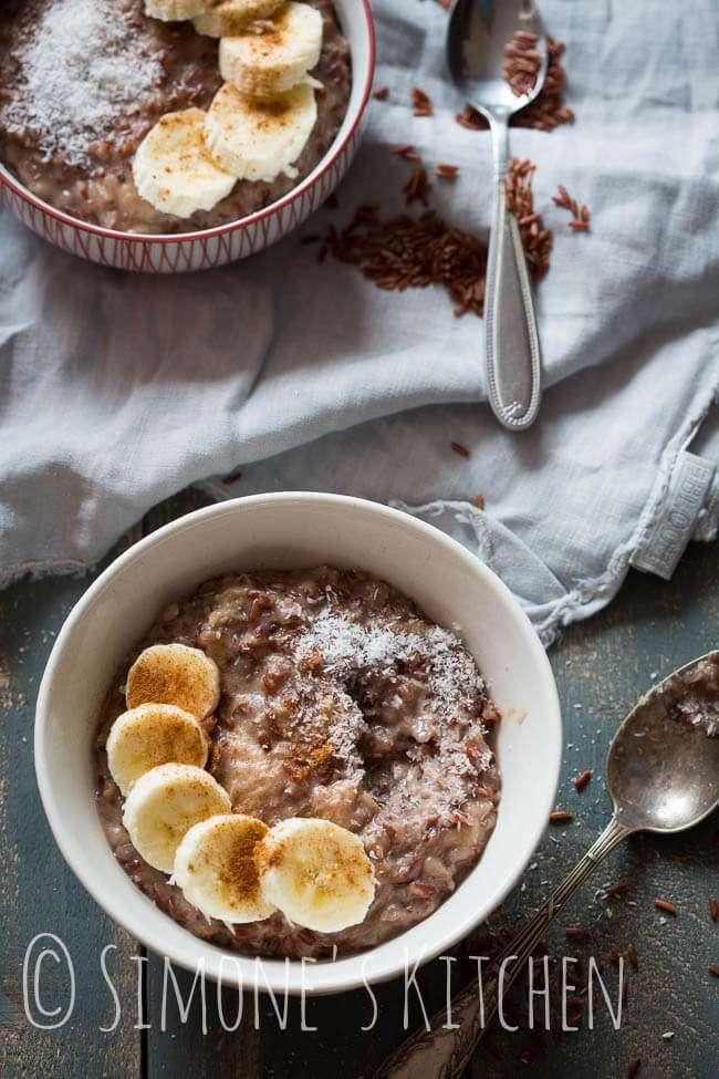 Coconut ricepudding with banana   insimoneskitchen.com