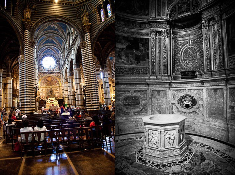 Inside the cathedral at Siena | insimoneskitchen.com