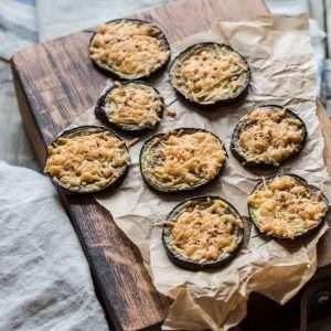 Roasted eggplant with cheese | insimoneskitchen.com