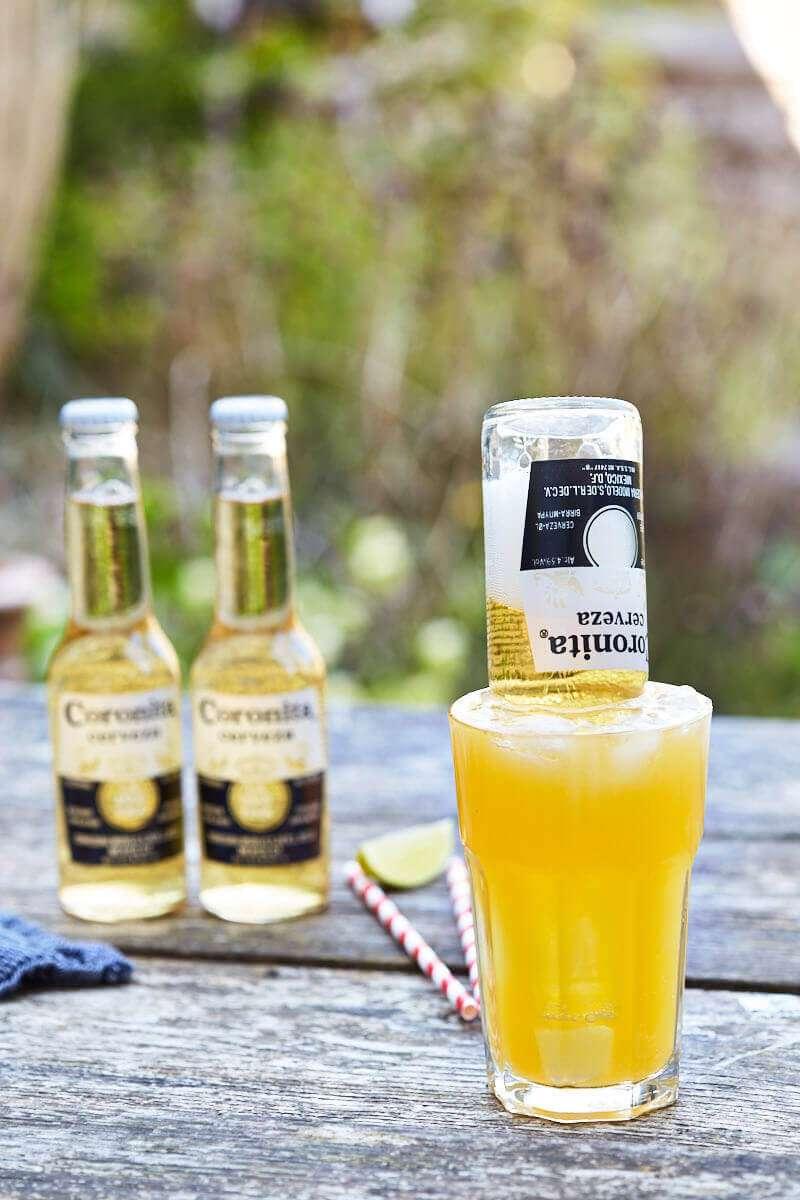 Beer cocktail with corona | insimoneskitchen.com