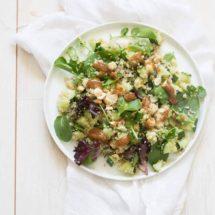Quinoa salad with almond butter dressing | insimoneskitchen.com