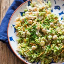 Broccoli salad with turkey and hazelnuts | insimoneskitchen.com