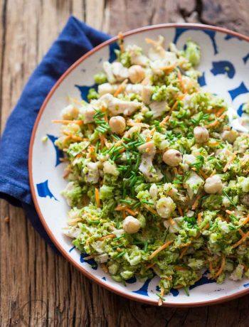 Broccoli salad with turkey and hazelnuts | insimoneskitchen.com