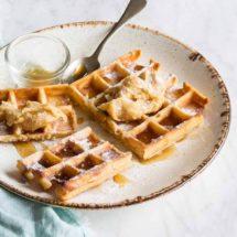 Burned butter waffles | insimoneskitchen.com
